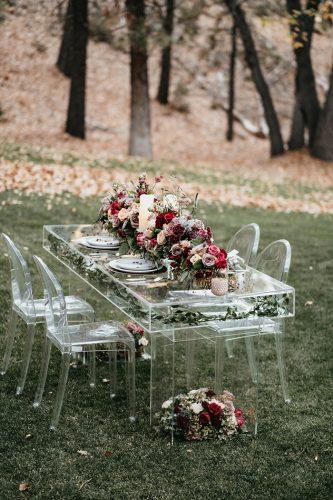 decoração de casamento com acrilico