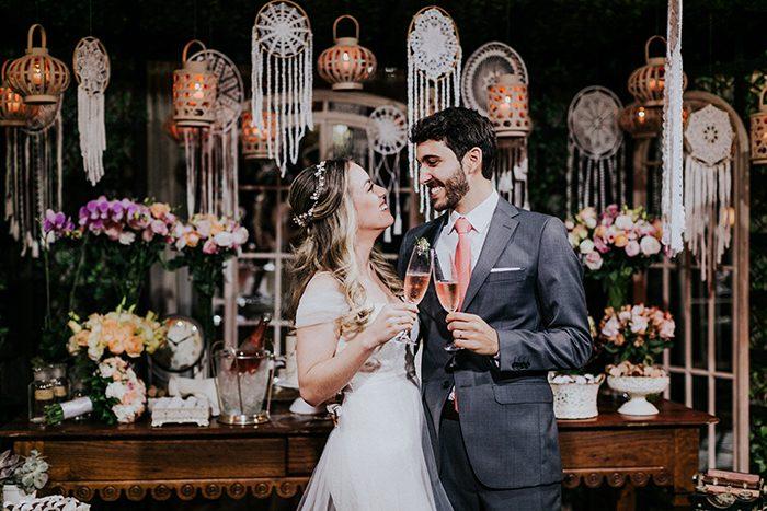 Casamento sustentável e com macramês DIY fofos em Brasilia – Flavia & Gabriel