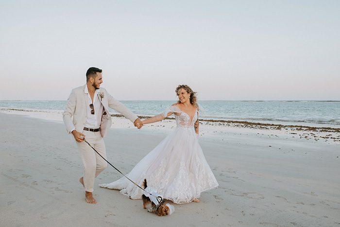 Casamento pé na areia com vibe boho em São Miguel dos Milagres – Camila & Matheus