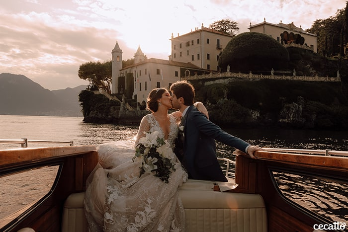 Um elegante Destination wedding ensolarado no Lago di Como – Letícia & Daniel