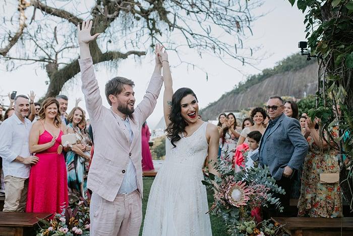 Uma linda tarde de sol para dizer SIM num casamento descontraído no Rio de Janeiro – Luciana & Rodrigo