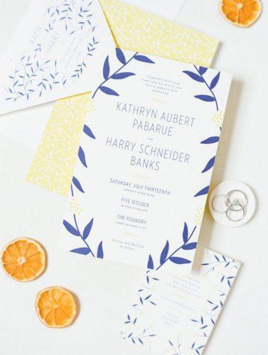 convite-de-casamento-azul-e-amarelo