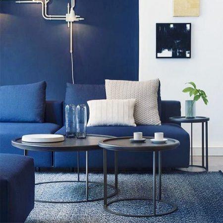 decoração-sala-de-estar-azul