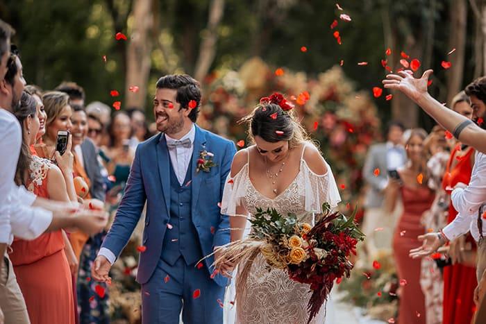 Uma cerimônia memorável com pegada boho chic na Villa Mandacarú – Luiza & Pedro