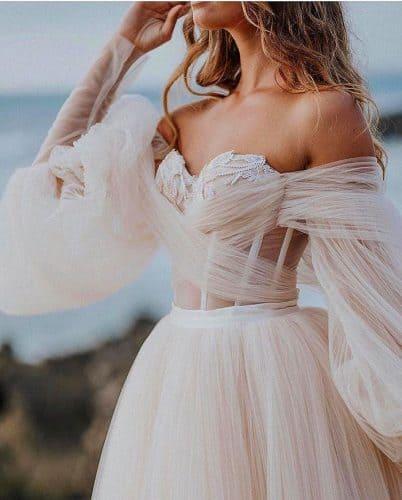 vestido-de-noiva-2020-mangas-volumosas-onefinedayweddingfairs2