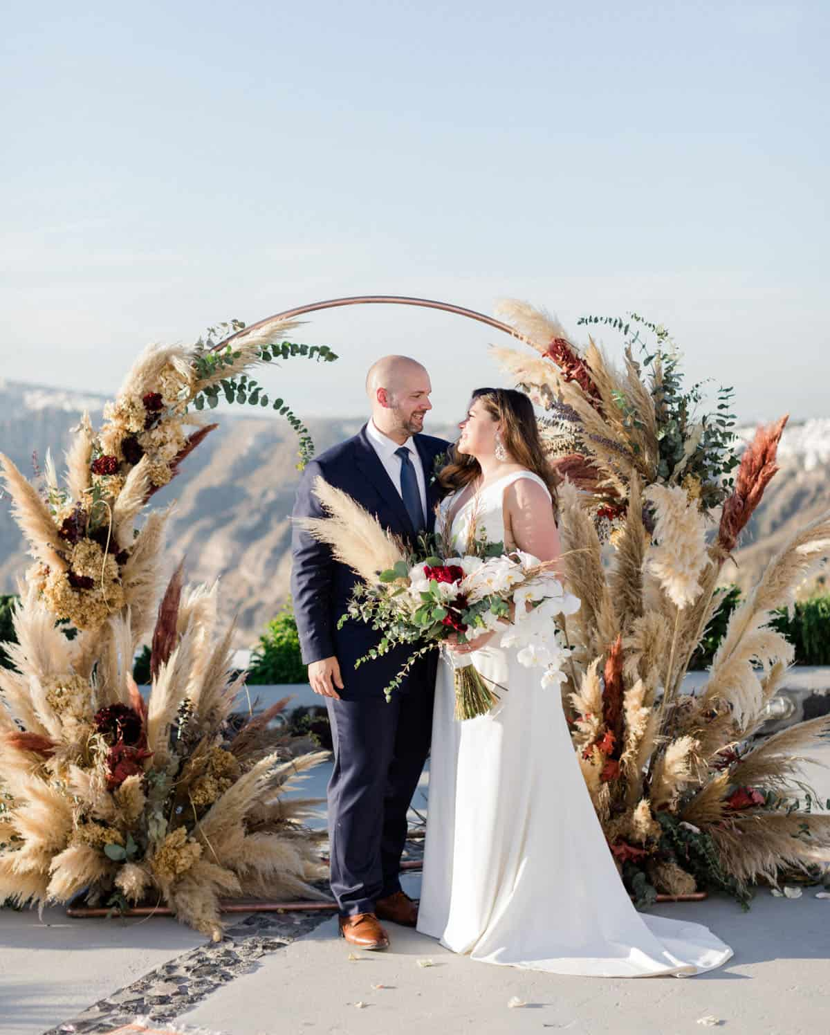 arco de casamento geométrico