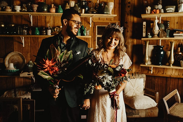 Mini wedding folk cheio de personalidade e significado na Villa Mandacarú – Cyndi & Alex