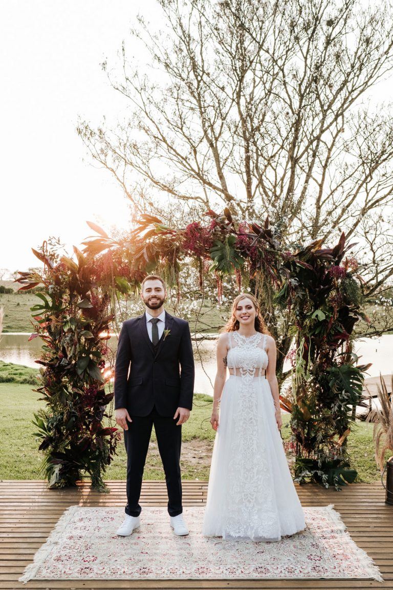 Casamento rústico com iniciativa sustentável no interior de São Paulo – Glória & Thiago