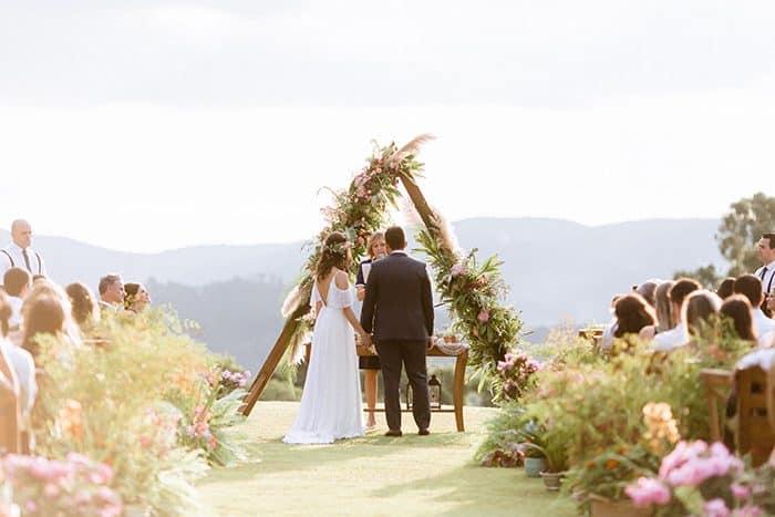 Casamento sustentável simples e encantador no meio da natureza- Andrezza & Felipe