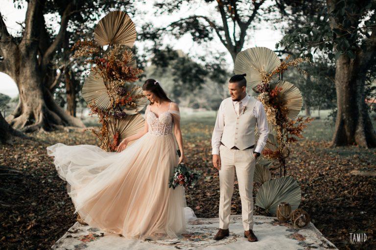 Elopement wedding minimalista com cerimônia ao ar livre no interior de São Paulo – Queren & João Pedro