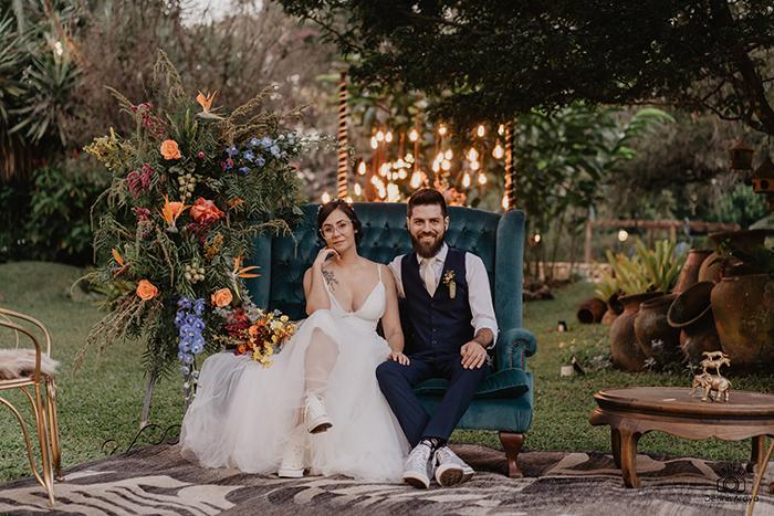 Casamento cheio de personalidade e sem protocolos no final da tarde em Brasília – Adriana & Gabriel