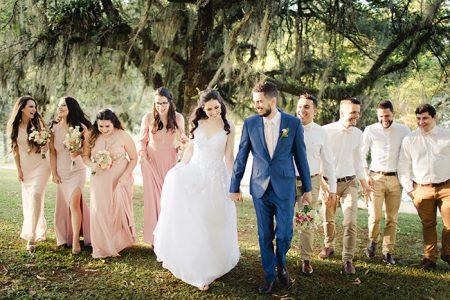 Casamento ao ar livre bem leve e natural em Curitiba – Cassia & Luciano