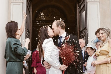 Destination wedding minimalista e chic numa villa italiana na região veneta – Manuela & Richard
