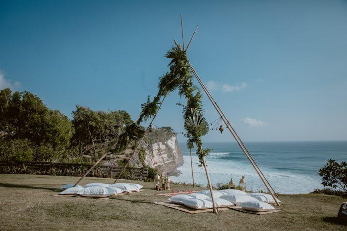cerimônia de casamento ao ar livre sustentável