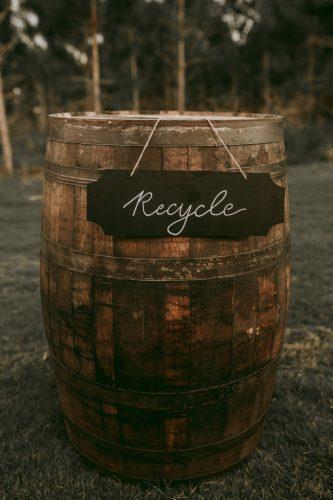 lixeira de recicláveis para casamento