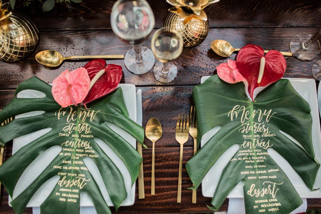 menu de casamento ecológico