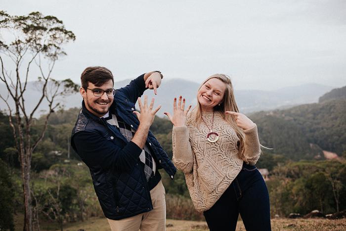 Ensaio de pedido de casamento surpresa e muito especial em Santa Catarina – Aline & Vinícius