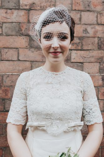 vestido de noiva curto vintage