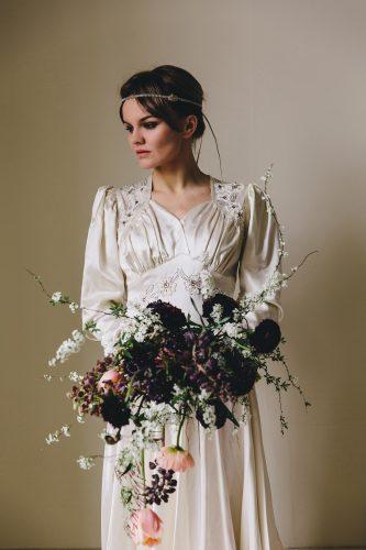 vestido de noiva vintage de seda