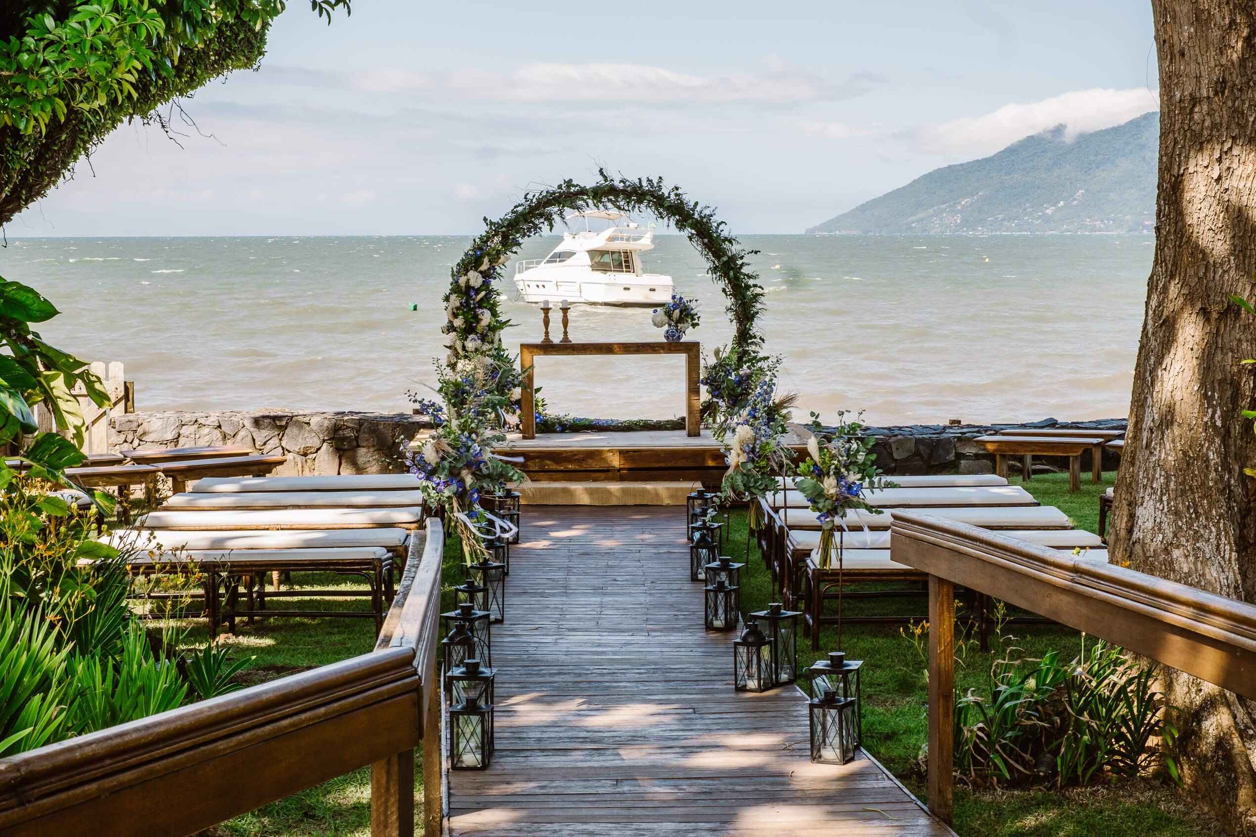 viela da praia espaço para casamento no litoral de sp