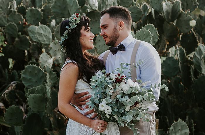 {EditorialElopement Wedding Boho em Salvador} Um casamento à dois na Praia do Flamengo – Rana & Danilo