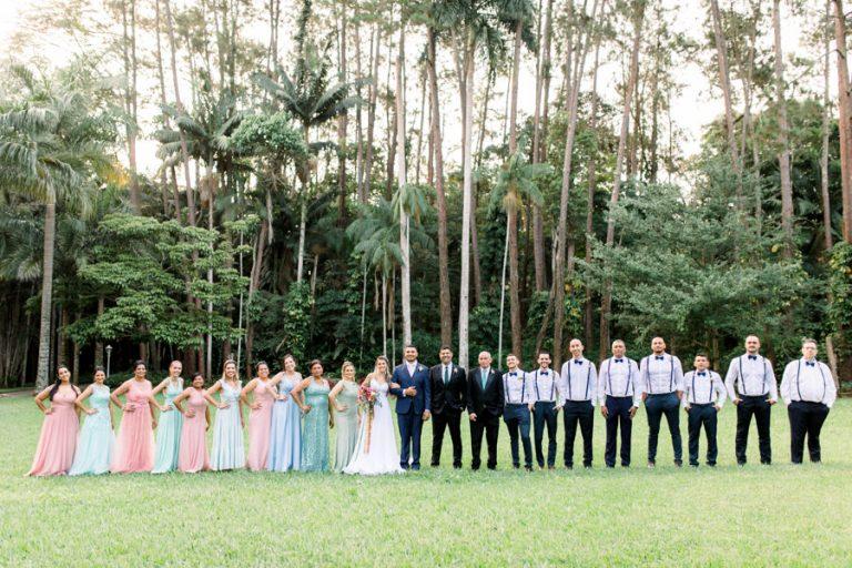 Casamento romântico em tarde agradável à beira da lagoa na Fazenda 7 Lagoas – Sarah & Cristian