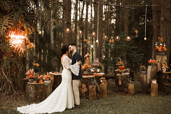 Mini wedding boho cheio de emoção no meio da floresta – Bianca & Lucas