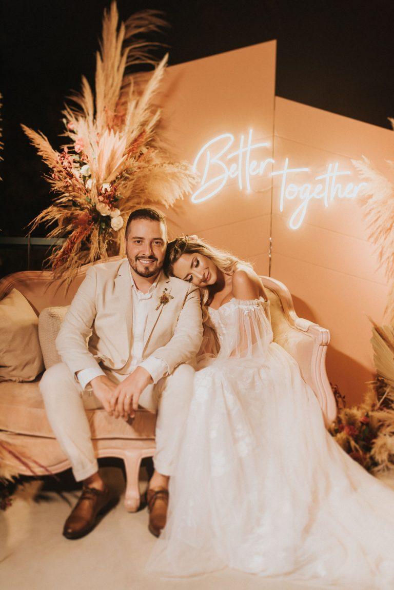 Casamento boho chic com toques de ousadia e originalidade na Fazenda Fagundes – Vitória & Isaias