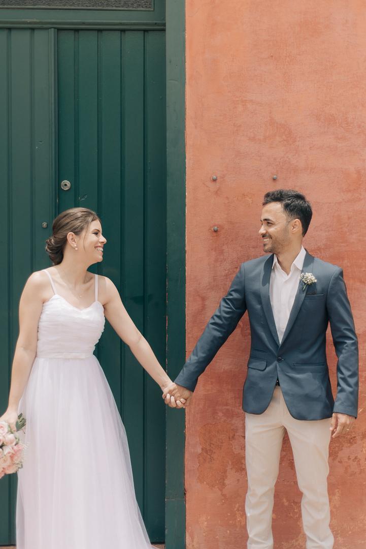 Mini wedding com cerimônia ao ar livre e brunch em Piracicaba – Aline & Renan
