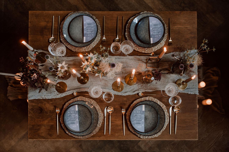 decoração de casamento com vibe mística