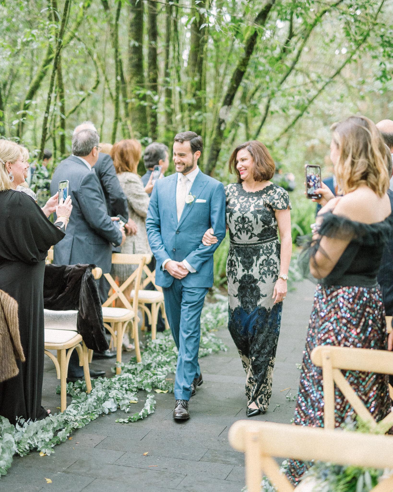entrada do noivo cortejo de casamento
