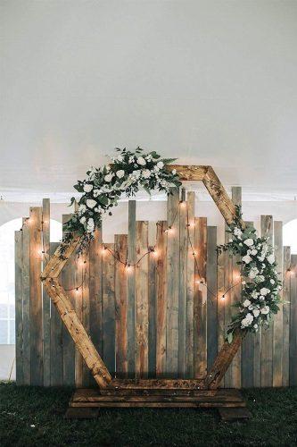 altar de casamento rústico