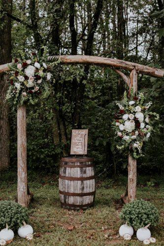 altar para casamento rústico simples