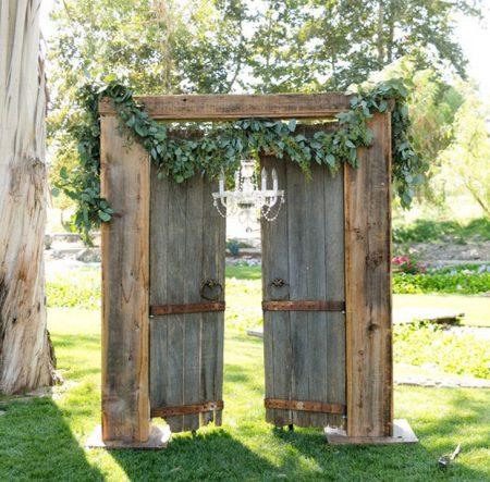 altar rústico para casamento