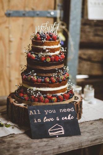 bolo para casamento rústico