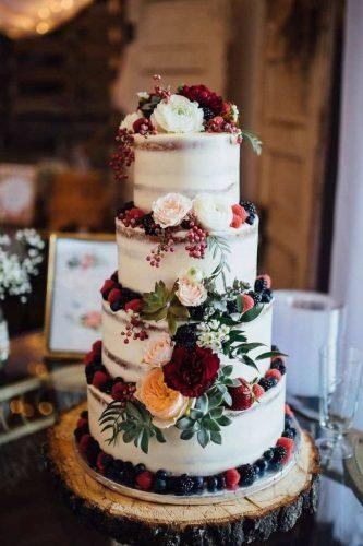 bolo para casamento marsala