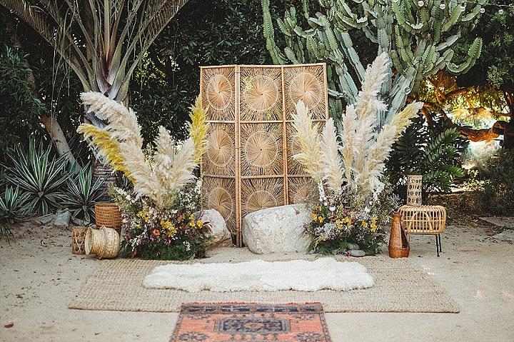 decoração cerimônia casamento boho