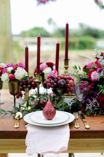 decoração para casamento marsala