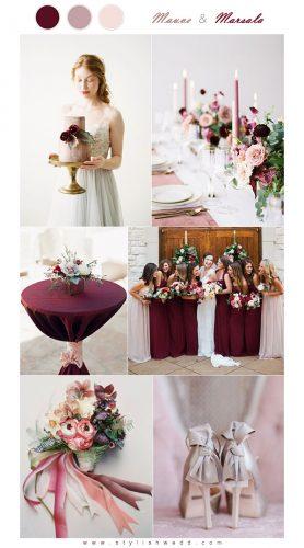 paleta de cores para casamento marsala