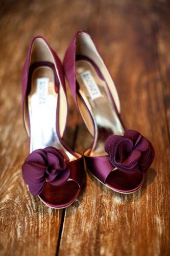 sapato marsala para noiva