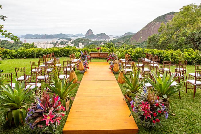 Micro wedding colorido e cheio de personalidade numa tarde encantadora no Rio de Janeiro – Cledianne & Bruno
