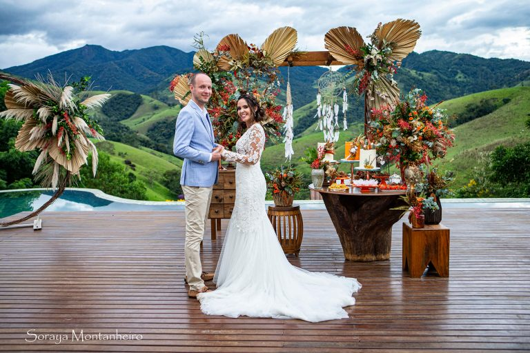 Casamento intimista colorido cheio de projetinhos DIY no interior de São Paulo – Anna Carolynna & Alessandro