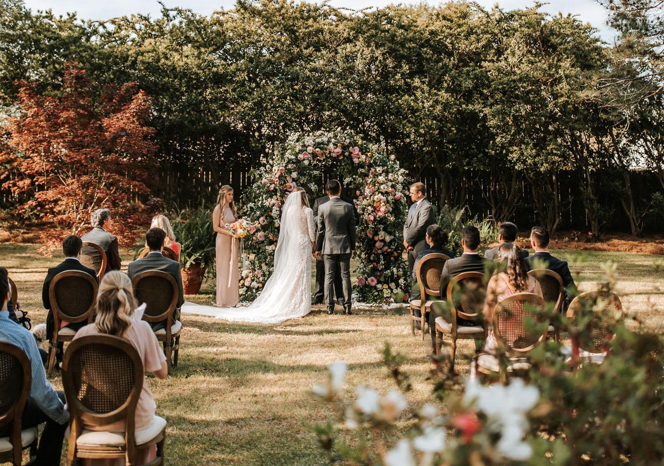casamento intimista no quintal