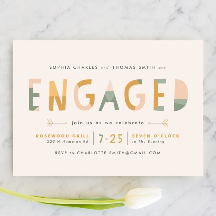 convite de noivado