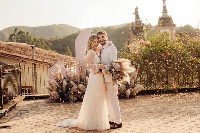 Elopement wedding no estilo romântico numa tarde adorável em Ouro Preto – Luisa & Diogo