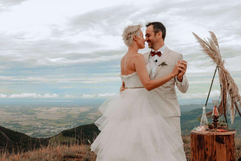 Elopement wedding nas montanhas em manhã agradável e cheia de alegria em Santa Catarina – Gisiane & Fabiano