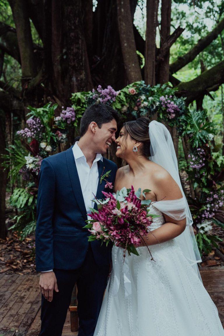 Casamento romântico ar ao livre cheio de amor e alegria em manhã adorável em Minas Gerais – Bruna & Gustavo