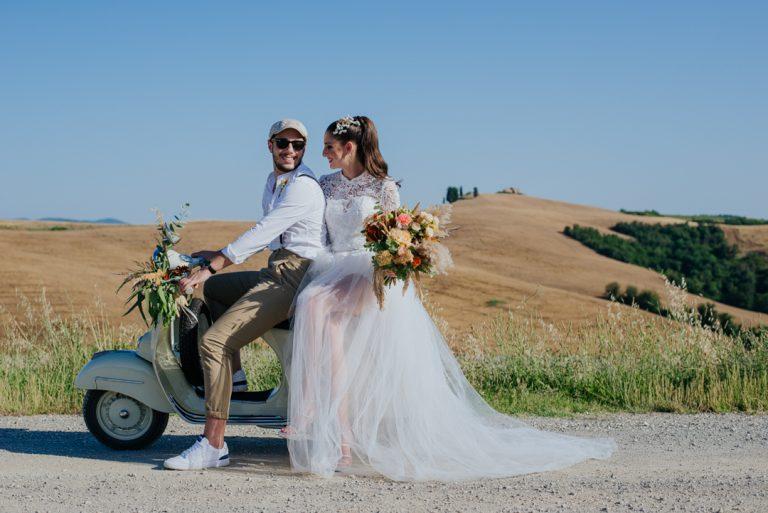 """Editorial Casamento à dois """"Italian Style"""" com paisagem deslumbrante na Toscana"""